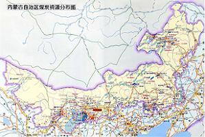 内蒙古煤田分布图
