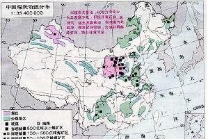 全国煤田分布图